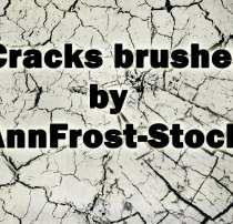 7种裂纹、裂缝纹理素材、干涸、干旱PS笔刷素材下载