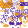 中国传统印花图案、吉祥的植物花纹PS笔刷素材
