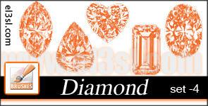 精美钻石、宝石图案素材PS笔刷下载