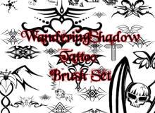 堕落天使刺青、邪恶魔女纹身PS不良少女纹饰图案笔刷
