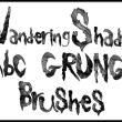 手绘残破风格的英文字母PS文字笔刷