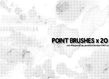 像素式垃圾污渍纹理背景效果PS笔刷下载