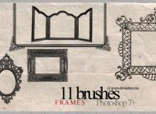 画框、镜框、相框边框图案PS笔刷下载