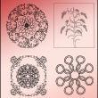 古典式手绘花纹、经典印花图案PS笔刷素材