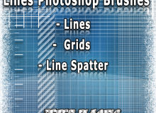 网格、线路、网格布纹理PS笔刷素材