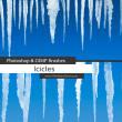 冰渣、冰柱、冰锥、冰凌图形PS笔刷素材