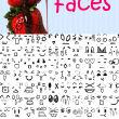 可爱的表情图案、卡哇伊手绘涂鸦表情Photoshop笔刷素材