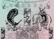中国传统文化富贵印花图案PS笔刷素材下载