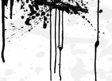 墨水、油漆飞溅刷子PS素材免费下载