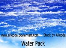 5种水面、湖面、海面、波光嶙峋素材PS笔刷下载