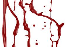 流血痕迹、血液液体痕迹PS笔刷素材