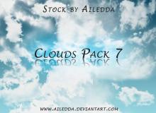 7种高清云层纹理、云朵背景PS笔刷素材