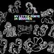 14种彩虹马、彩虹独角兽卡通图形PS笔刷素材下载