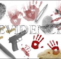 指纹、血手印、手枪、脚印、子弹、犯罪元素PS笔刷素材