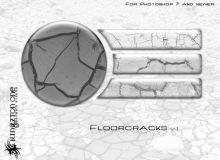 一组真实的干旱裂纹纹理、裂缝材质PS笔刷下载