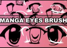 萌到你可爱的卡通眼睛PS美图笔刷