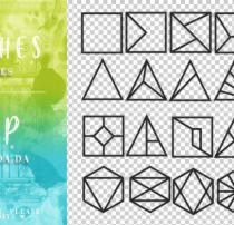 正方形、三角形、菱形等几何图形PS笔刷素材