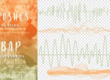 电磁波、波形图、峰谷图PS笔刷素材