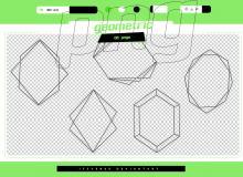 几何图形组合图案、各种菱形结构PS笔刷素材(PNG图片格式素材)