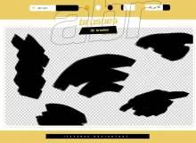 高品质颜料画笔刷子反复涂画Photoshop笔刷素材