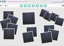 拍立得相片边框图形PS笔刷素材(PNG文件)