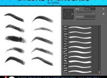 个性化女性眉毛图形Photoshop笔刷素材