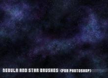 宇宙星系、银河系、浩瀚星空背景PS笔刷素材