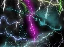 雷电、闪电、弧形闪电纹理PS笔刷