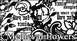玫瑰花花纹图案PS笔刷