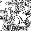 枝繁叶茂印花花纹图案PS笔刷