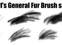 动物皮毛、绒毛纹理PS绘画笔刷