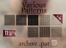 11种马赛克方块背景纹理PS填充素材文件下载