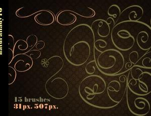 贵族式印花图案、高贵典雅欧式花纹PS笔刷