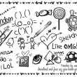 儿童节涂鸦、可爱图画笔记PS笔刷