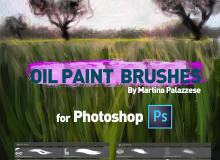 Photoshop油漆纹理画笔笔刷素材
