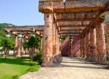 埃及文艺元素走廊背景 – 免费照片