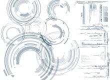 30种机械科技元素风格背景装饰PS笔刷