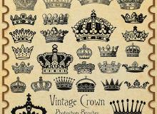 皇冠、王冠图形PS笔刷