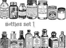 手绘罐子、瓶子等PS笔刷