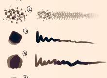 斑点、斑块、涂抹上色PS笔刷