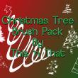 圣诞节、圣诞树卡通图形ps笔刷下载