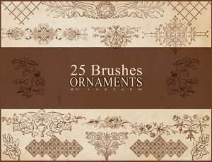 25种欧式经典贵族印花PS笔刷