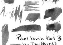 油漆涂刷纹理PS笔刷
