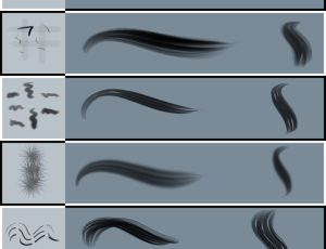 高级头发、毛发、绒毛、插画毛发纹理PS笔刷