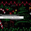 卡通圣诞节、新年装饰图案PS美图笔刷