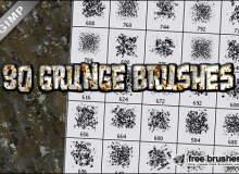 污渍纹理、生锈、斑纹材质GBR格式笔刷下载(GIMP笔刷素材)
