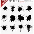 12种滴溅、喷溅油漆纹理Ai笔刷素材