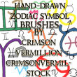手绘奇异符号图案PS笔刷