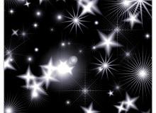 闪烁星星、星光、星辰装饰PS笔刷素材