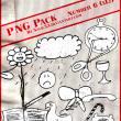 童趣元素PS美图笔刷(png文件格式)